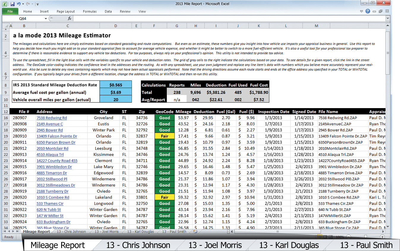Just released: Mileage Estimator for 2013 with new features
