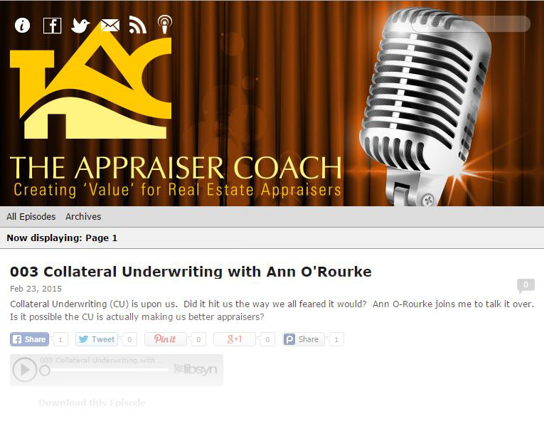 The appraiser coach presents new weekly podcast for What do home appraisers look for