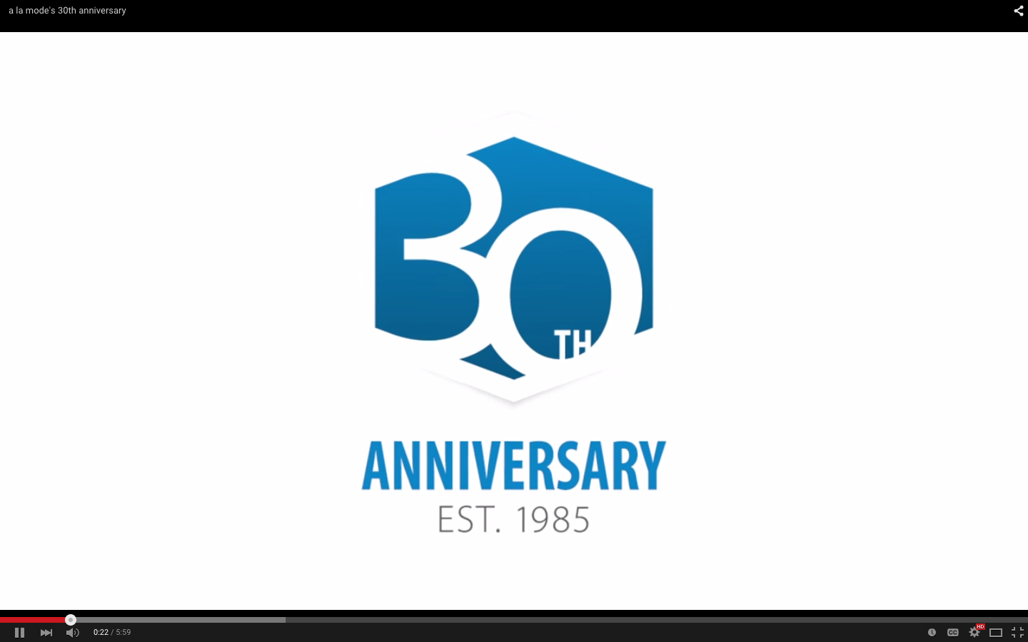30 Year Anniversary Video