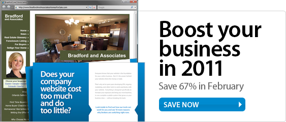 Boost your business in 2011. Save 67% in February.