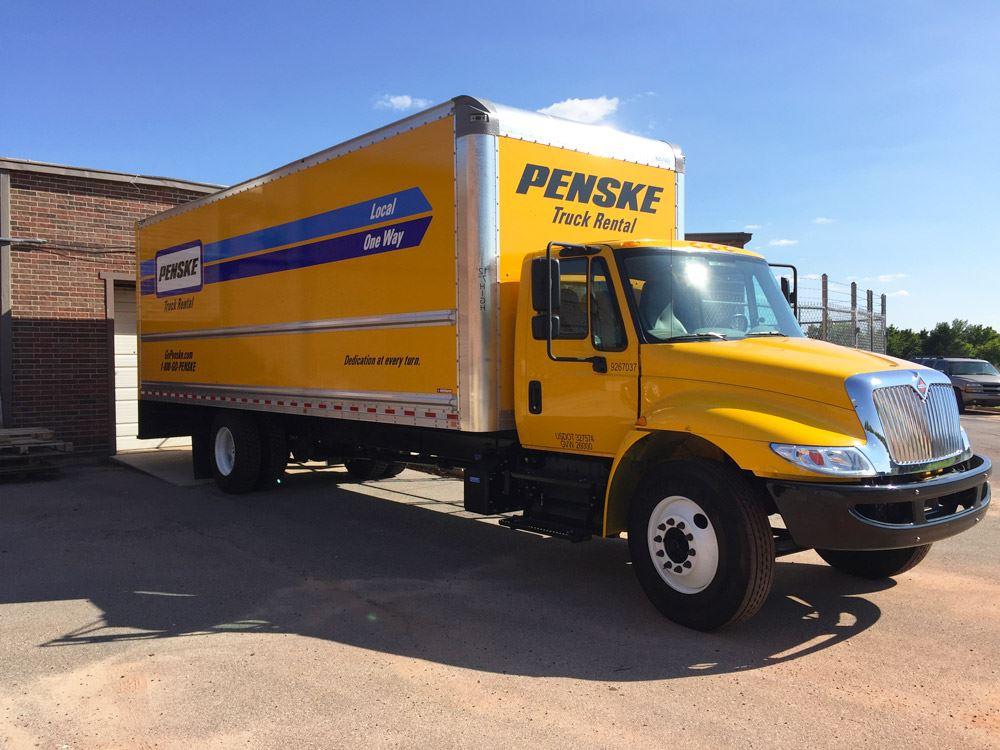 Penske truck used for sending supplies