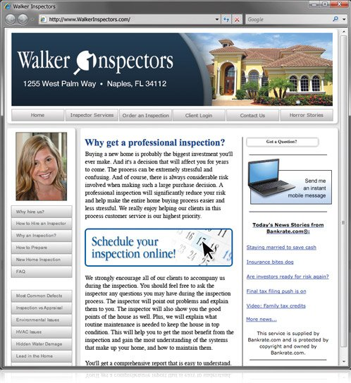 Inspector XSite - websites for inspectors