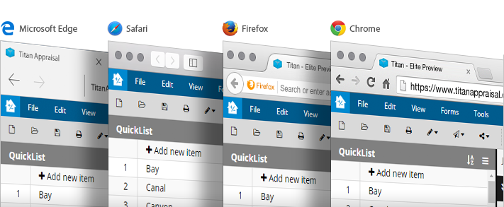 IE, Safari, Firefox and Chrome supported