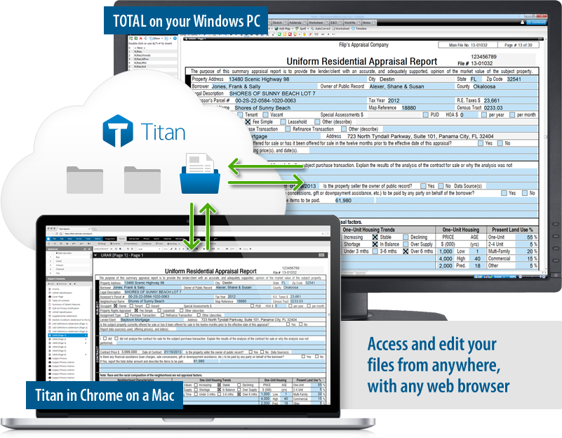 Titan Reports - Access and edit files from anywhere, on any device with a web browser